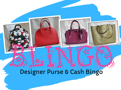Blingo Designer Purse & Cash  Event Tickets Now on Sale