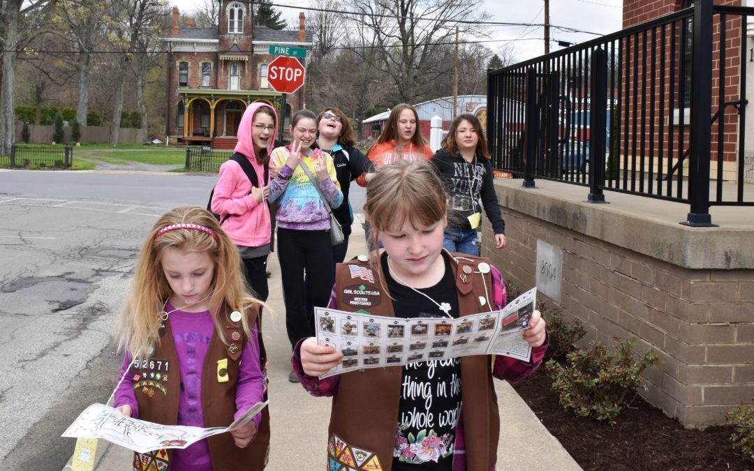 April and early May feature Girl Scout Programming