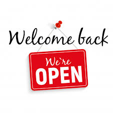 We're Open as of January 8