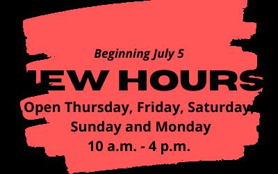 Open Mondays beginning July 5